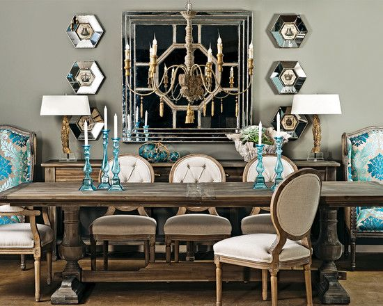 Rustic with a dash of glam and pop of color