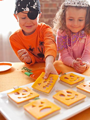 Jack o lantern sandwiches-Ally's lunch surprise on Halloween!