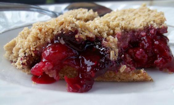 Double crust raspberry blueberry crisp.