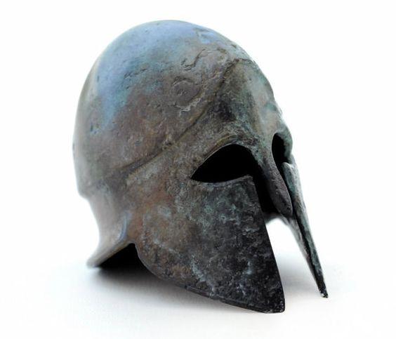 Helmet Bronze Greek Corinthian by GreekMythos on Etsy,