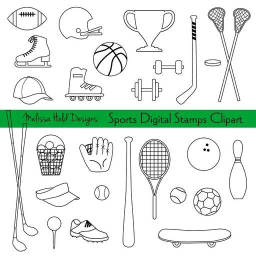 Grocery Store Digital Stamps Clipart Coloring Books Digital
