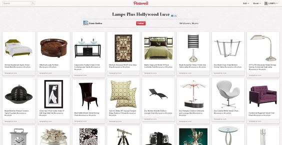 [Finalist] We're loving Dawn's Hollywood Luxe Style. Repin this pin from THIS link http://pinterest.com/pin/67835538108077279/ to vote! Her entry: http://pinterest.com/dawndshelton/lamps-plus-hollywood-luxe/