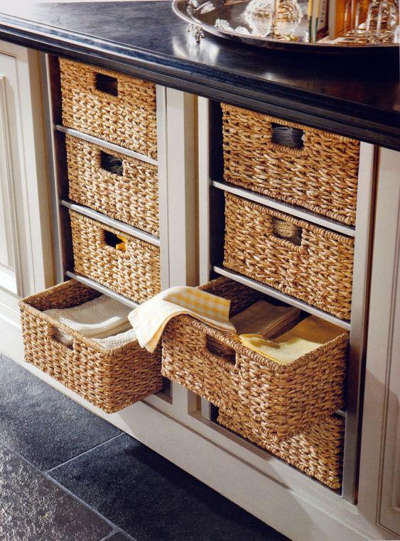 Replace drawers with wicker baskets home pinterest - Cajones de mimbre ...