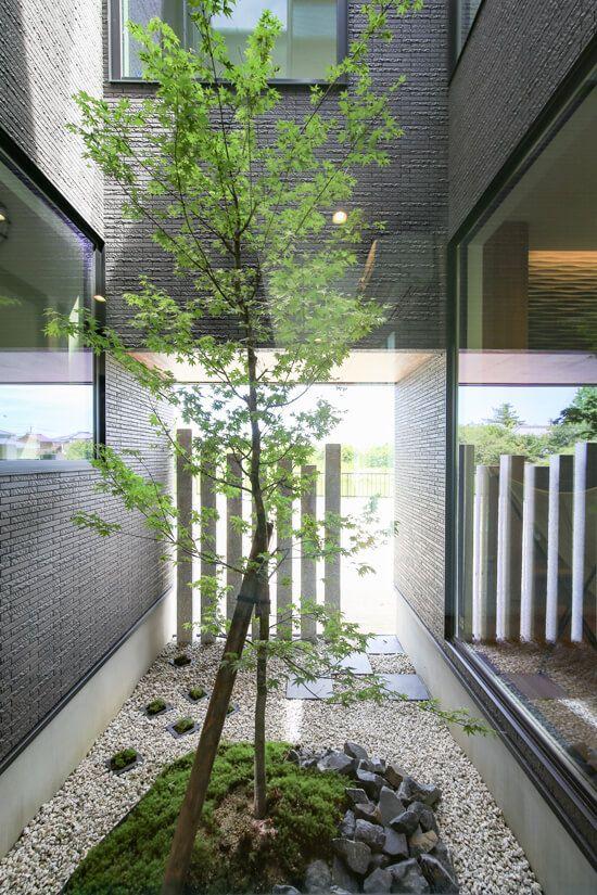 中庭 坪庭 いろんな庭を楽しむ家 施工実例 愛知 名古屋の注文住宅