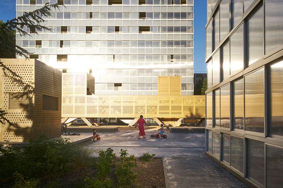 LAN: riqualificazione urbana a Lormont... Ad essere sinceri mi ricorda la tipologia degli edifici per uffici ... non condivido alcune scelte stilistiche che associano la realizzazione ai cle assici esempi di edilizia residenziale agevolata