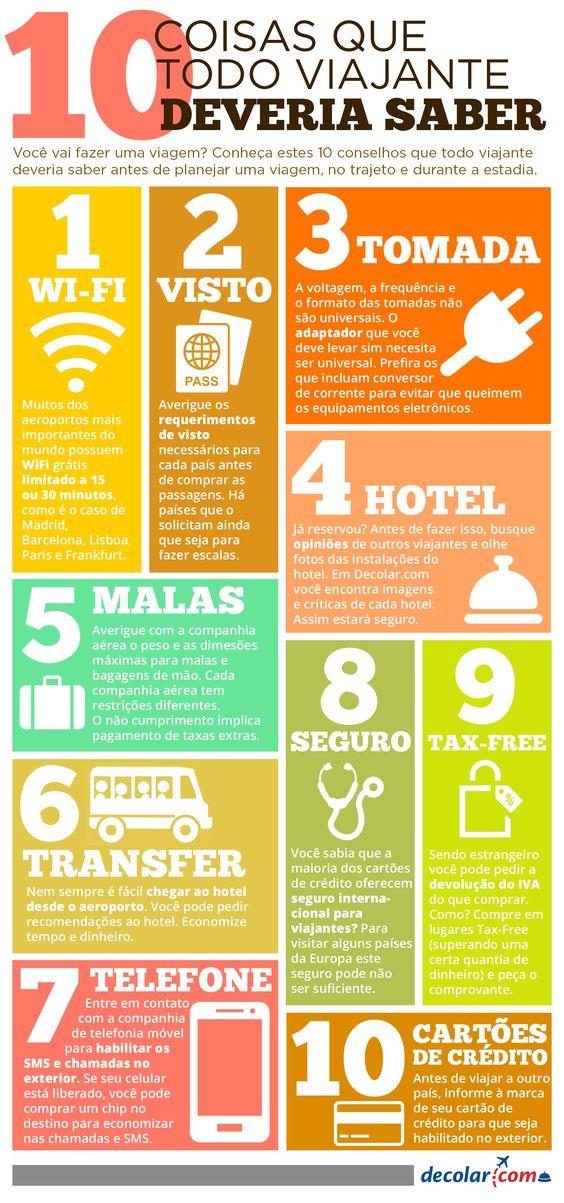 10 dicas que todo #viajante deveria saber.