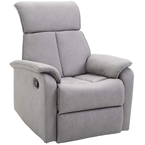 Homcom Fauteuil De Relaxation Grand Confort Pivotant 360 Dossier Inclinable Repose Pied Ajustable Simili Cuir Tissu Gris Cla En 2020 Tissu Gris Simili Cuir Meuble Gifi