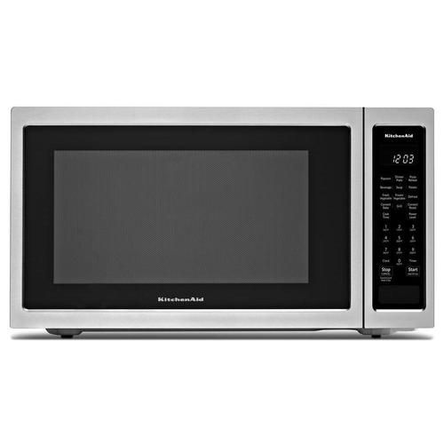 Kitchenaid 1 5 Cu Ft 1400 Watt Countertop Convection Microwave Stainless Steel At Countertop Microwave