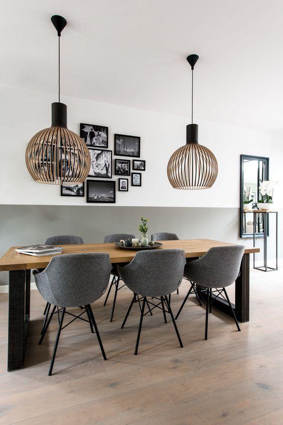 35 Beautiful Lighting In Scandinavian Rooms Including Floor Lamps Dinning Room Design Interior Design Living Room Dining Room Inspiration