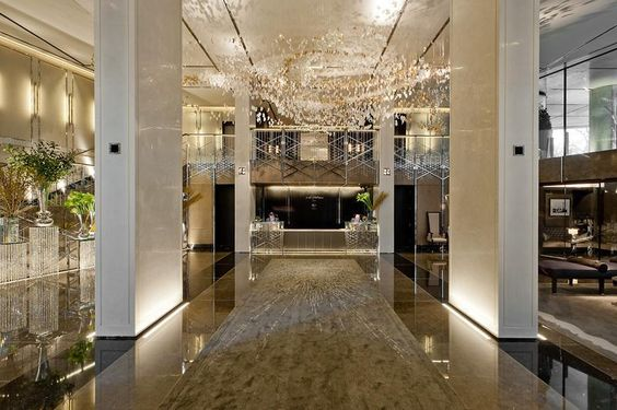 A magnificent party space at the highly exclusive One Hyde Park development in Knightsbridge