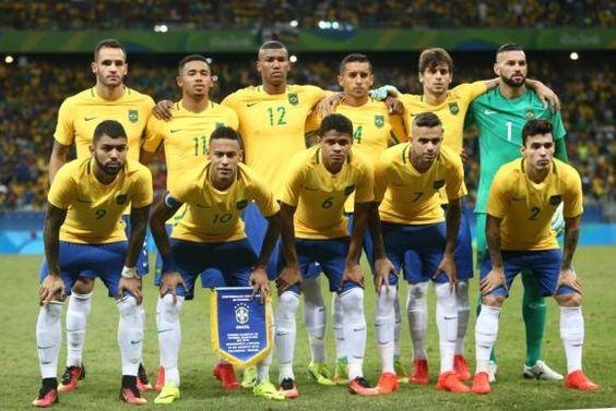 A seleção brasileira conquista ouro olímpico com vitória sobre a Alemanha no #Maracanã. #Neymar abriu o placar com um #gol de falta no primeiro tempo da partida