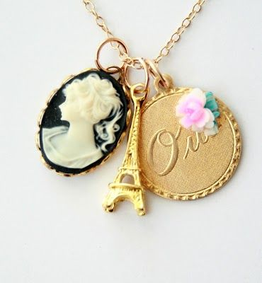 Cameo necklace from Nest Pretty Designs