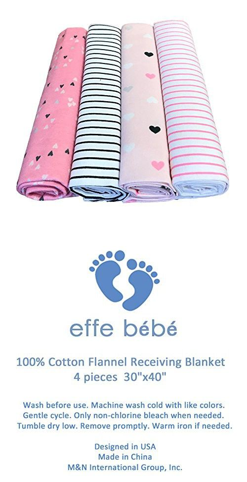 Effe Bebe 100 Cotton Flannel Baby Receiving Blanket New Baby Products Baby Receiving Blankets Cotton Flannel