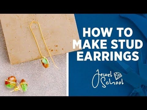 Check Out Jtv S Unique Selection Of Jewelry Making 101 How To Make Simple Stud Earrings Suppl Simple Stud Earrings Earring Making Supplies Diy Earrings Studs