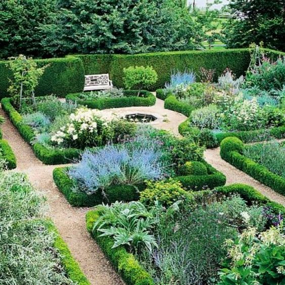 Mario Buatta English style garden at his South Hampton property in New York.