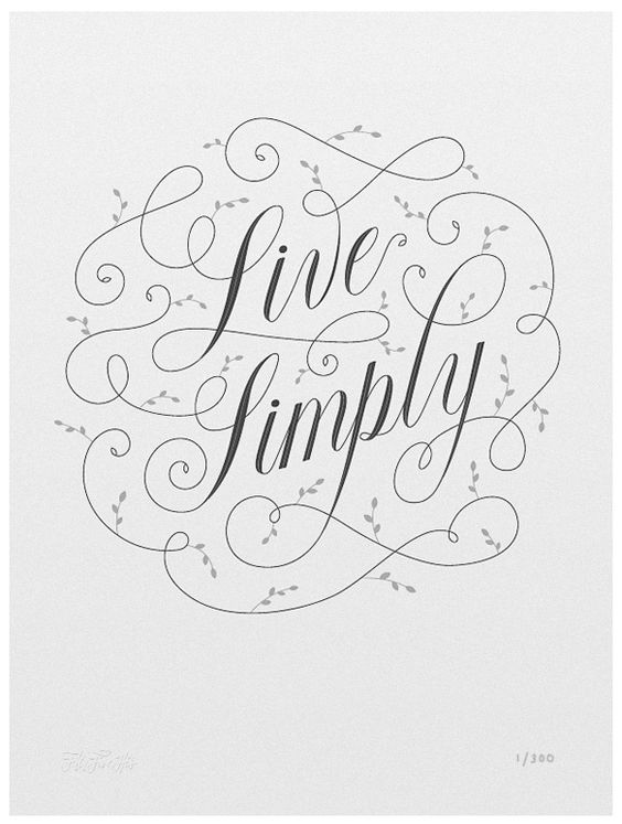 Live Simply Calligraphy True Facts And Beautiful Hands