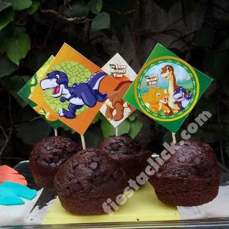Cupcakes para la fiesta de Pie pequeño