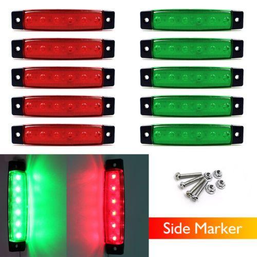 5 Green & 5 Red 6 LED Boat Bus Van Truck Trailer Side Marker Light Indicators  https://t.co/e3w8jNXF8n https://t.co/CShg18NpgM