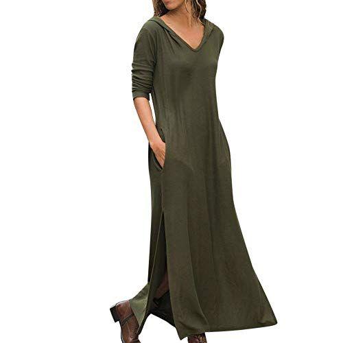 Millenniums Sweats Robe Longue /à Capuche Courleur Unie avec Poche Pulls Streetwear Spotlight Chic Cool Street Fashion Sweat Mode Femmes Hiver Sweat-Shirt