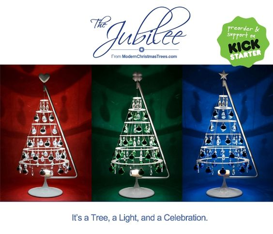 An Innovative, Space-saving Modern Holiday Tree Releases on Kickstarter