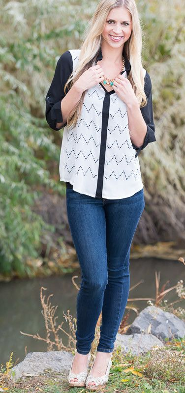 #chevron #blouse #stylish #chic #fallfashion