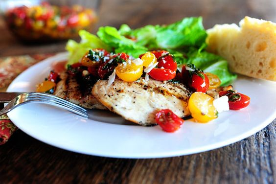 2 recipes in one bruschetta chicken and then of course regular bruschetta as well!!! i will def. be making this soon!