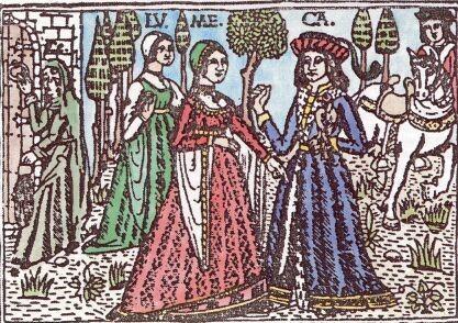 La Celestina. Grabado del siglo XV.