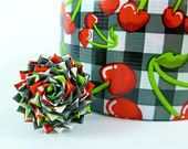 Cherry duct tape rose ring! Too cute for words!