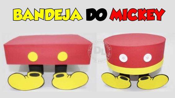 Como fazer bandeja para festa mickey mouse: