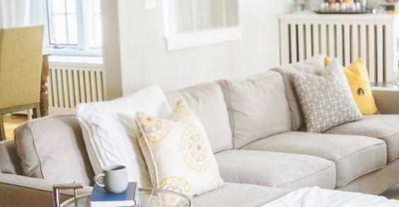 Sofa - Cozy Minneapolis Home Tour | Style Me Pretty Living
