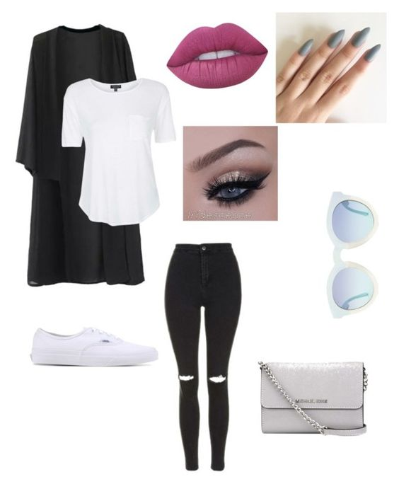 """"""""""" by fashionista-sundus on Polyvore featuring Topshop, Vans, MICHAEL Michael Kors and Lime Crime"""