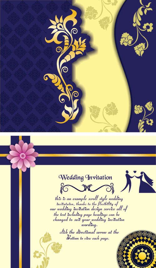 Free Wedding Invitation Samples Coreldraw Wedding Card Designs
