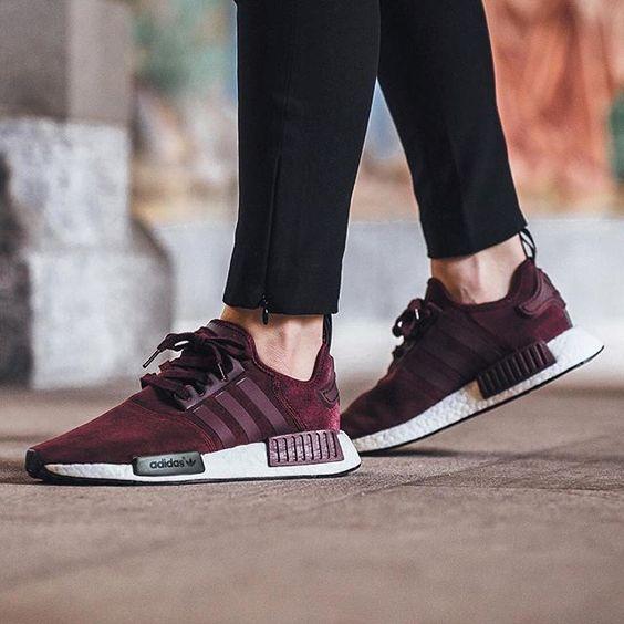 Sneakers femme - Adidas NMD | SneackerHeadB | Pinterest | Baskets Couleur bourgogne et Vu00eatements