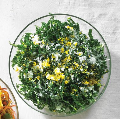 Tuscan Kale Caesar Slaw by The Bon Appétit Test Kitchen via epicurious #Salad #Kale #Caesar #Bon_Appetit #epicurious
