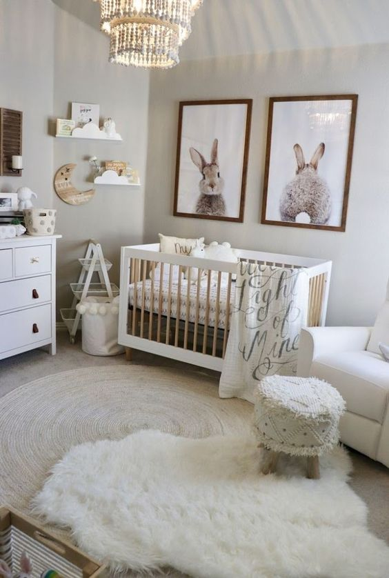This room is cute but I mostly adore the bunny pictures
