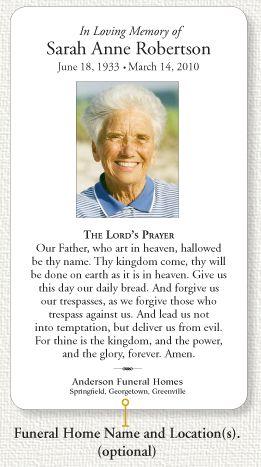 Free Memorial Cards Template Inspirational Best 25 Funeral Prayers Ideas On Pinterest Memorial Card Business Card Wording Card Templates Free