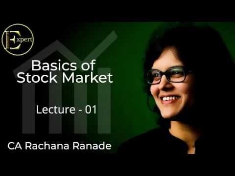 Basics Of Stock Markets Lecture 1 By Ca Rachana Phadke Ranade