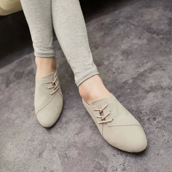 Flats Women 2016 New Women's Fashion Spring Summer Style Casual Shoes Lace-up Women Solid. Item Type: FlatsDepartment Name: AdultShoe Width: Medium(B,M)Season: Spring/AutumnPlatform Height: 0-3cmWith Platforms: NoClosure Type: Lace-UpToe Shape: Round ToeInsole Material: RubberUpper Material: SuedeDecorations: PlainPattern Type: SolidLeather Style: Nubuck LeatherGender: WomenOutsole Material: RubberOccasion: CasualFit: Fits smaller than usual. Please check this store's sizing infoFlats Type…