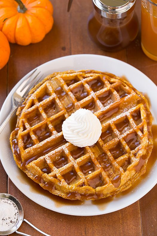 Pumpkin Waffles | Recipe | Apple cider, Pumpkins and ...