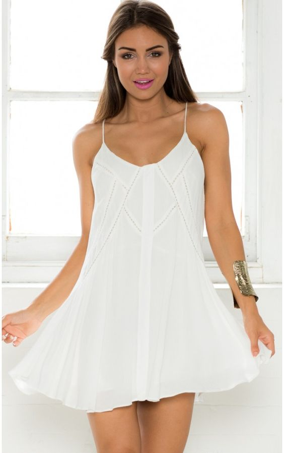 Hardest Of Hearts dress in white