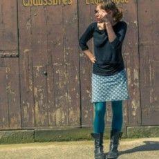 Un coupon = une jupe avec ce patron facile de jupe à réaliser en 2 temps 3 mouvements.