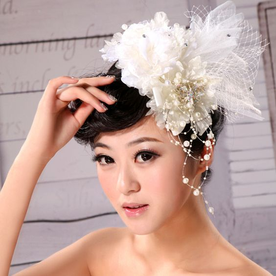 Aliexpress.com : Buy The bride hair accessory hair accessory white feather rhinestone the wedding hair accessory 2013 on Home Living. $12.70