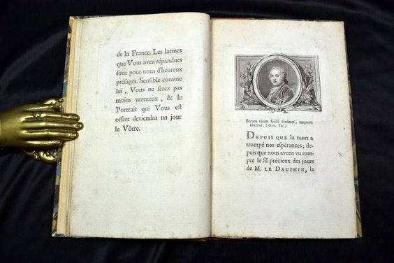 Book belonging to Louis Ferdinand with an inscription for his son, the future Louis XVI