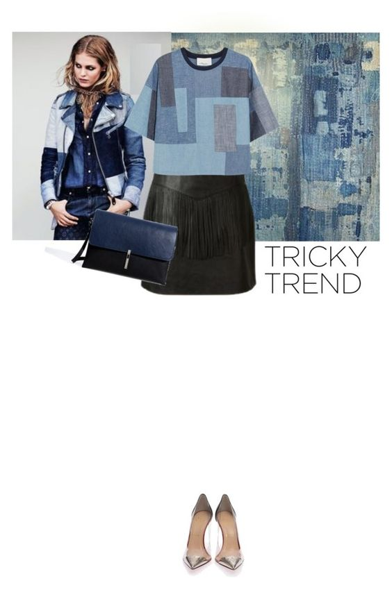 """""""patchwork denim"""" by saramoreira ❤ liked on Polyvore featuring Yves Saint Laurent, 3.1 Phillip Lim, Christian Louboutin and Zara"""