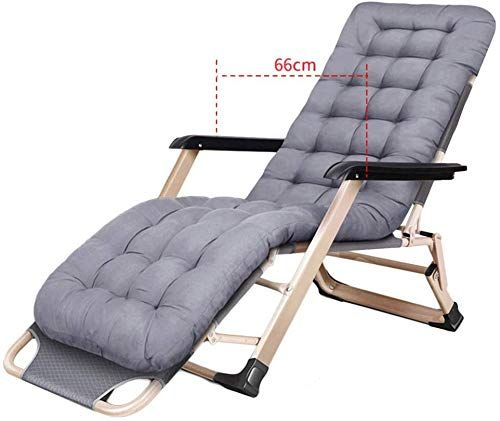 Chic Heavy Duty Patio Reclining Lounge Chairs With Cushions Folding Portable Chair For Beach Swimming Pool Garden Outdoors And Indoors S Kursi Goyang Kursi