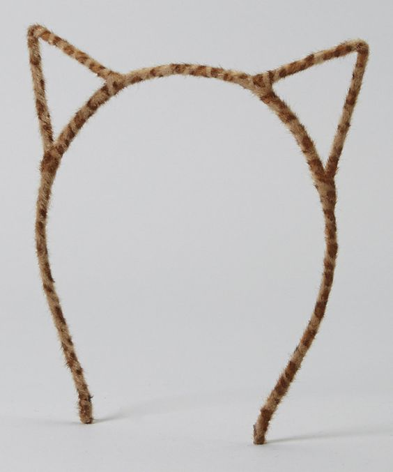 Look at this Cutie Pie Kid Couture Brown Cat Ear Headband on #zulily today!