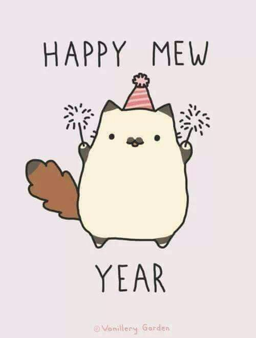 Pin By Audree Meacham On Pusheen The Cat Happy New Year Tumblr Happy New Year Gif New Year Gif
