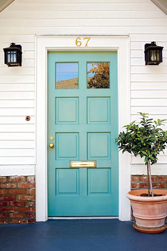 In Between Blue Green 13 Bold Colors For Your Front Door
