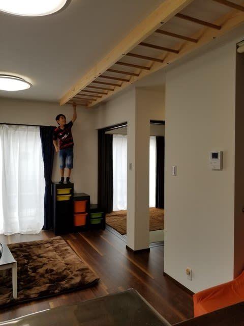 うんていを天井に 三重県m様 木で育む家族の幸せ 木育工房日記