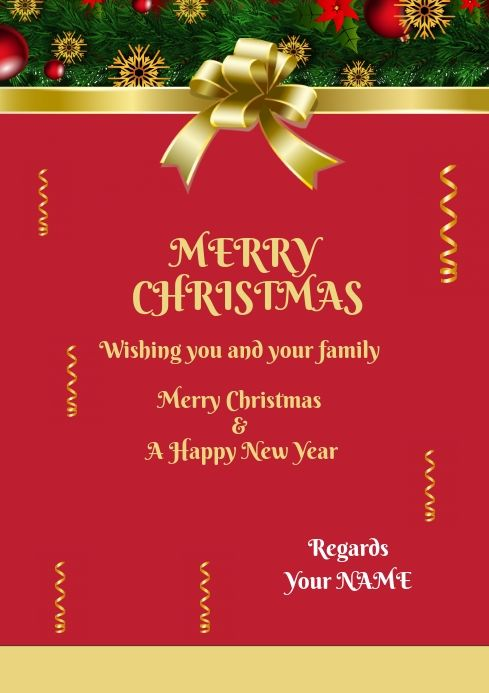 Christmas Greeting Card For Family Friends Christmas Greetings